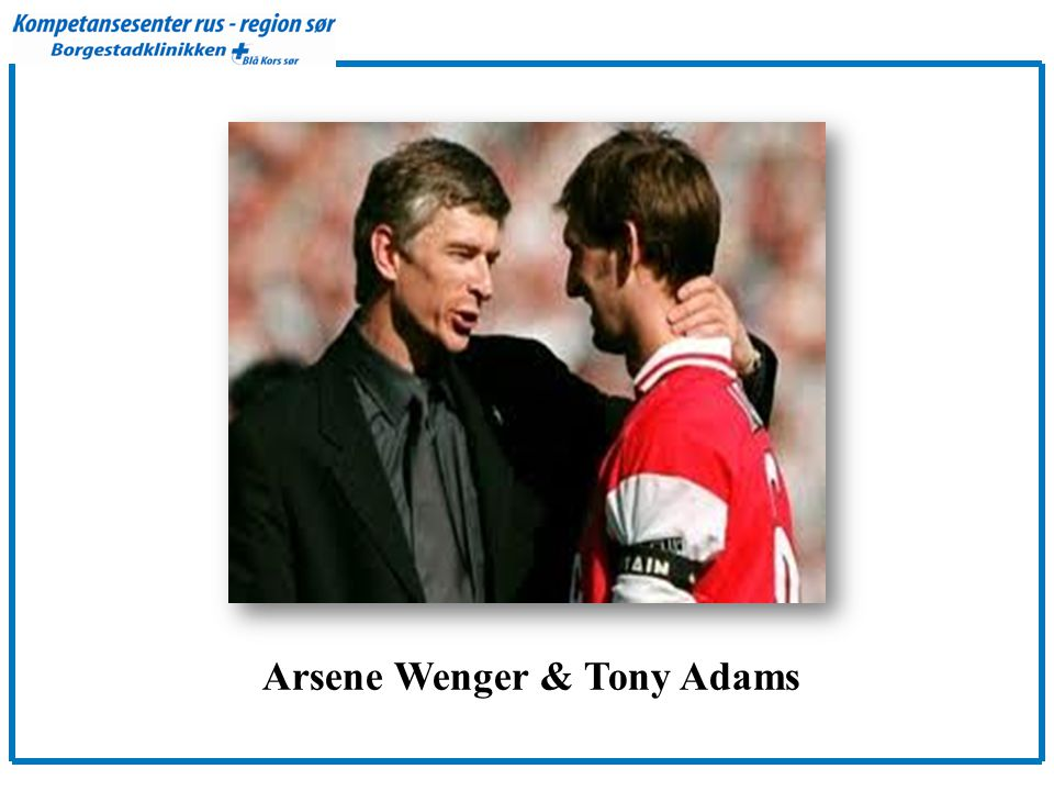 Arsene Wenger & Tony Adams