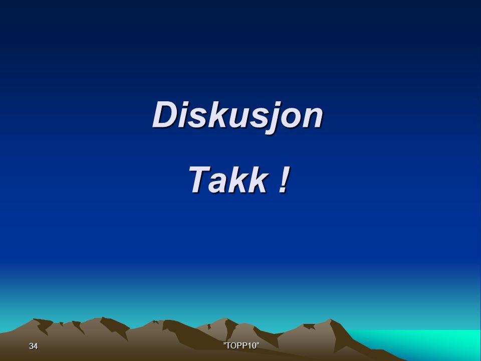 Diskusjon Takk ! 34 TOPP10