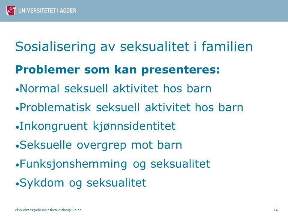 Sosialisering av seksualitet i familien