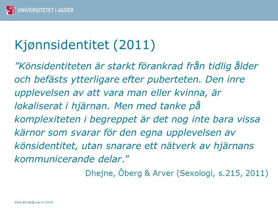 Kjønnsidentitet (2011)