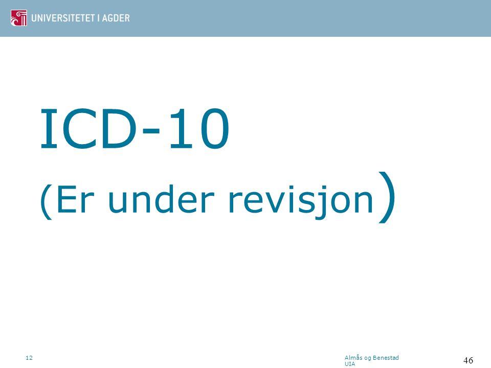 ICD-10 (Er under revisjon)