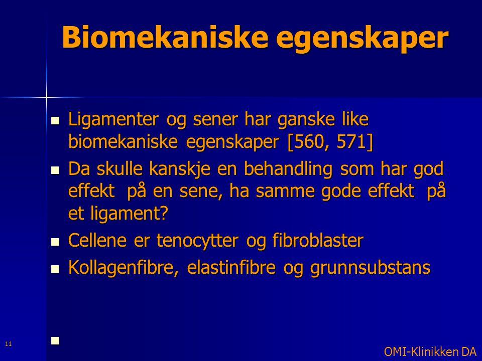 Biomekaniske egenskaper