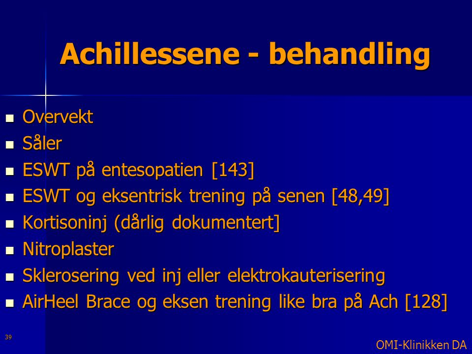 Achillessene - behandling