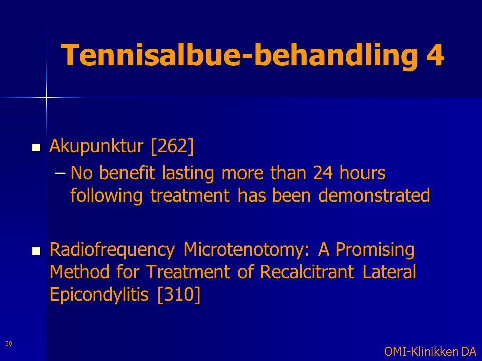 Tennisalbue-behandling 4
