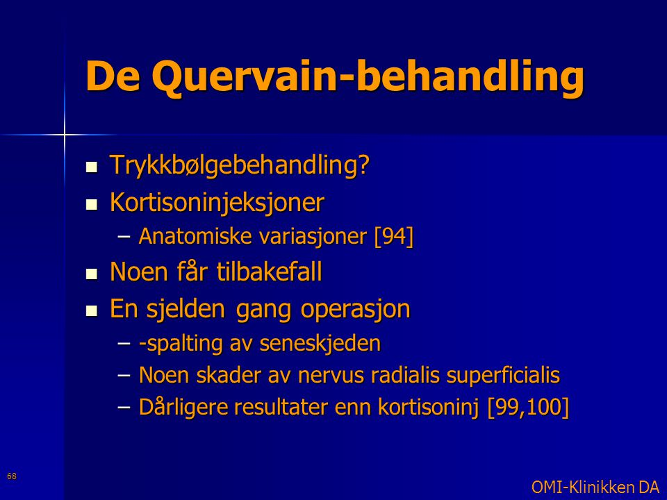 De Quervain-behandling