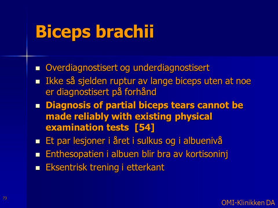Biceps brachii Overdiagnostisert og underdiagnostisert
