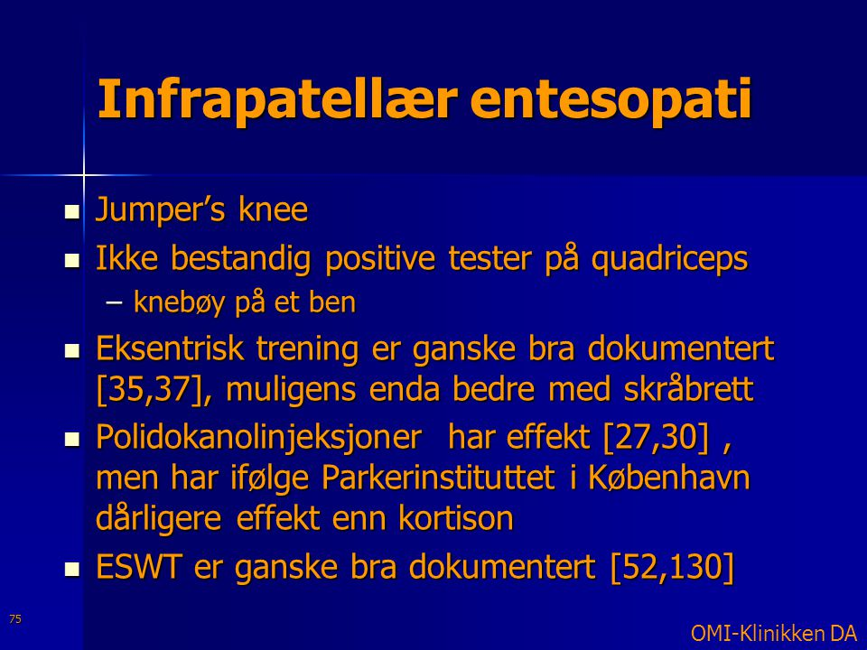 Infrapatellær entesopati