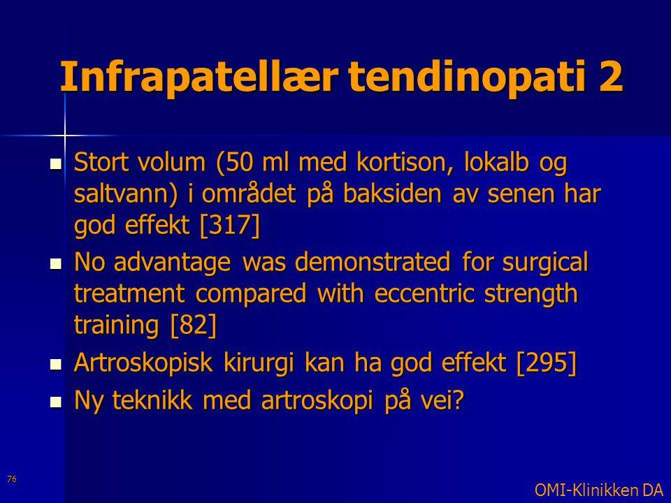 Infrapatellær tendinopati 2