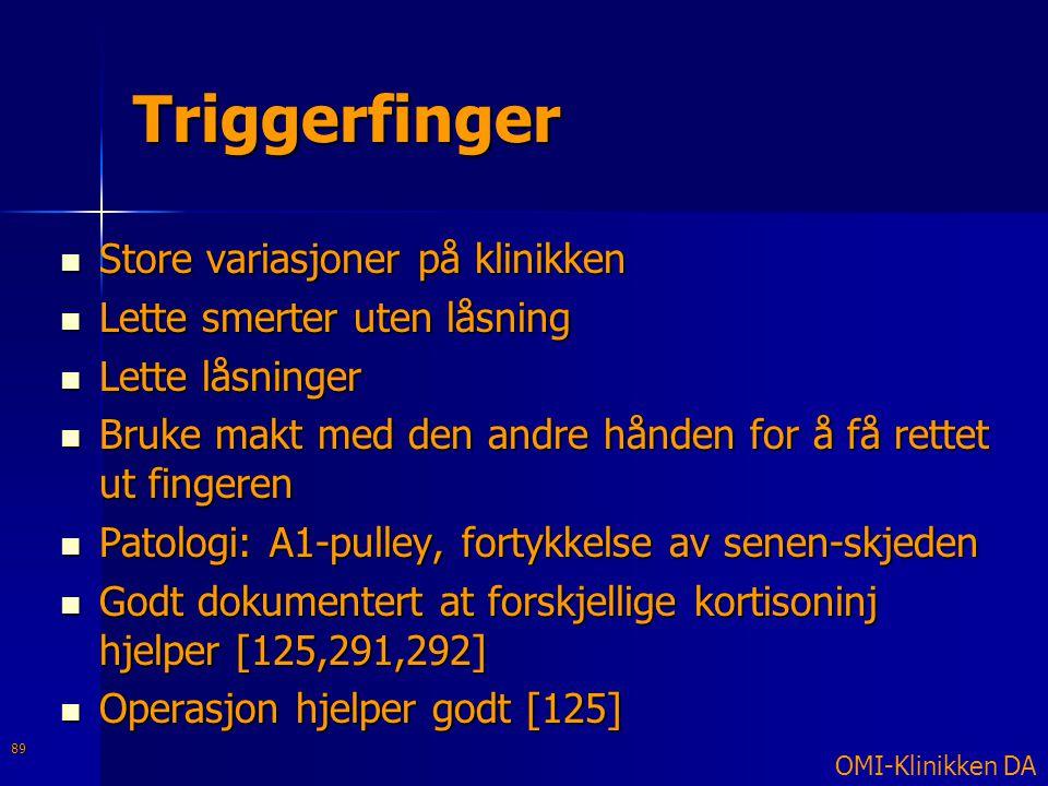 Triggerfinger Store variasjoner på klinikken