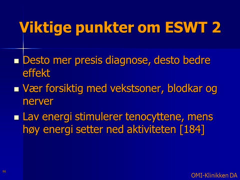 Viktige punkter om ESWT 2