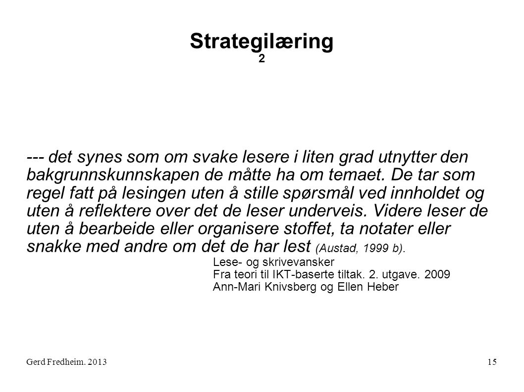 Strategilæring 2