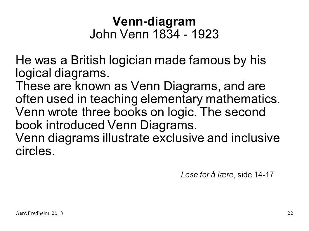 Venn-diagram John Venn 1834 - 1923