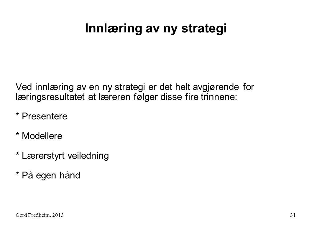 Innlæring av ny strategi