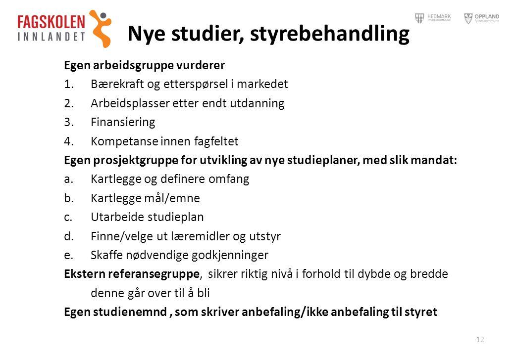 Nye studier, styrebehandling