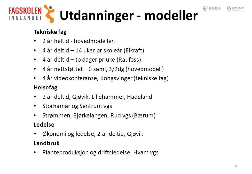 Utdanninger - modeller