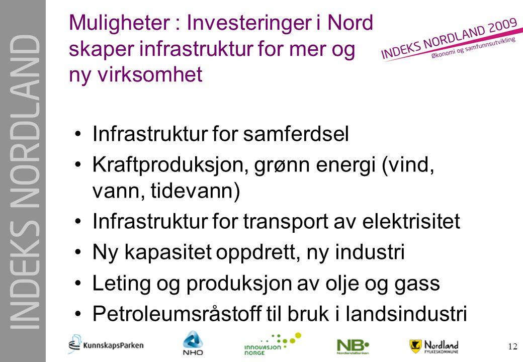 Muligheter : Investeringer i Nord skaper infrastruktur for mer og ny virksomhet