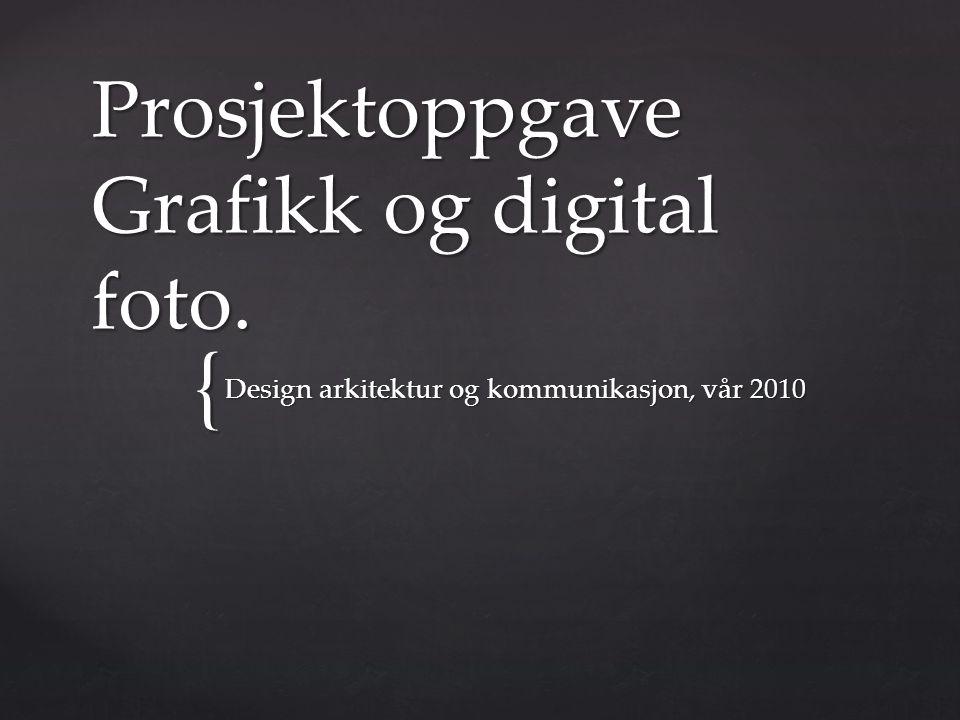 Prosjektoppgave Grafikk og digital foto.