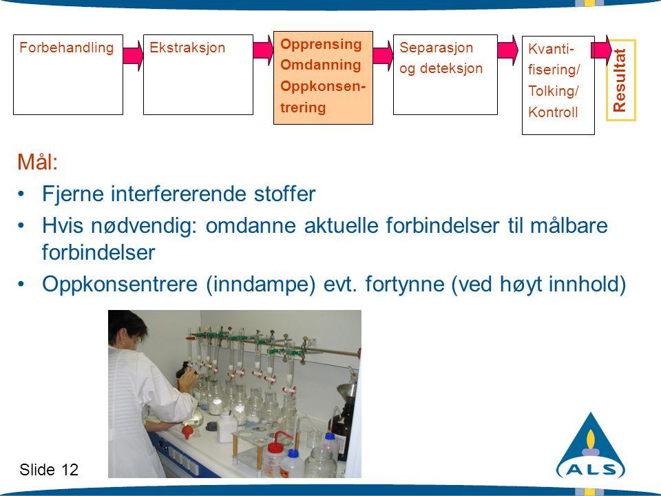 Fjerne interfererende stoffer