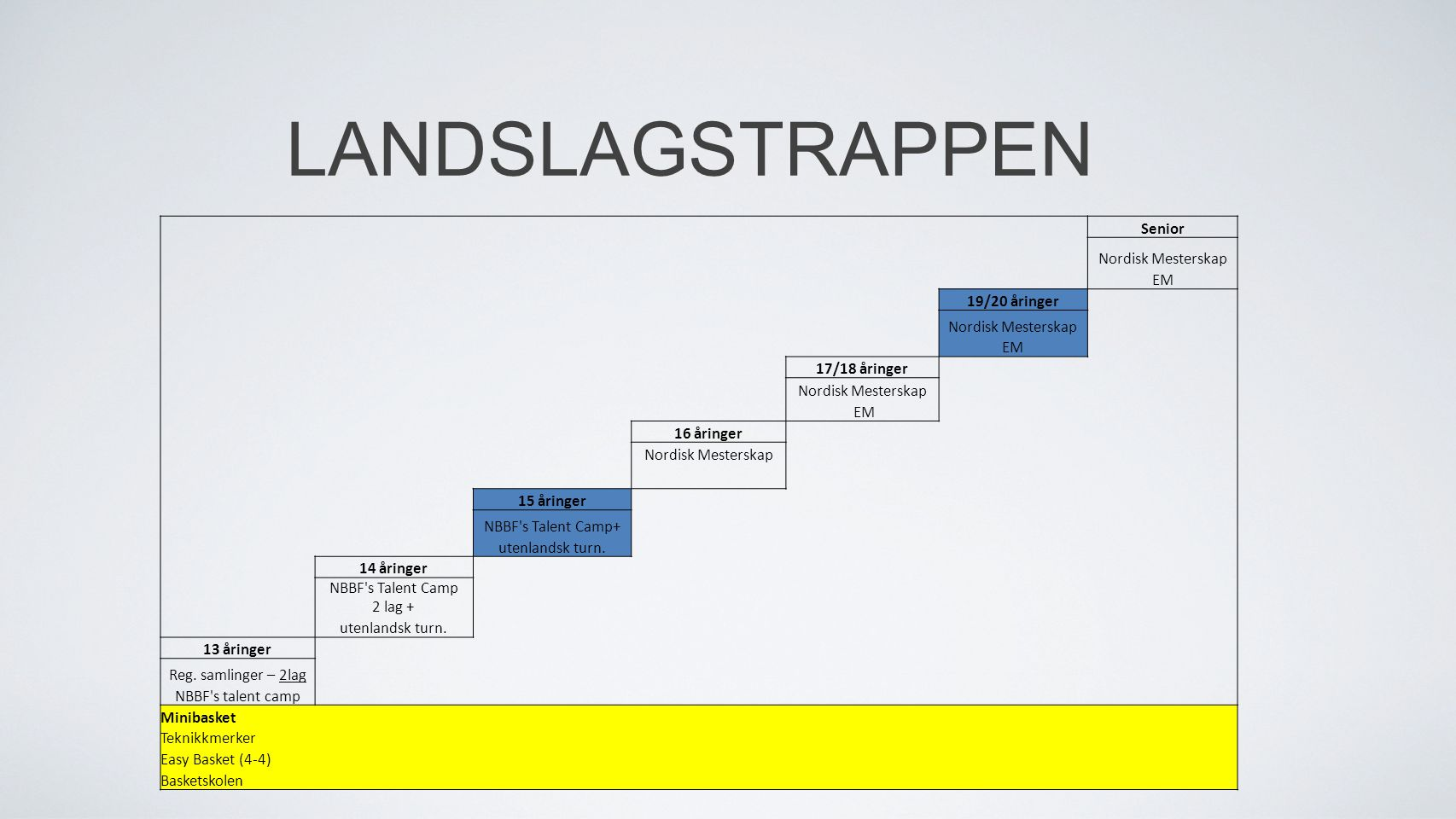 LANDSLAGSTRAPPEN Senior Nordisk Mesterskap EM 19/20 åringer