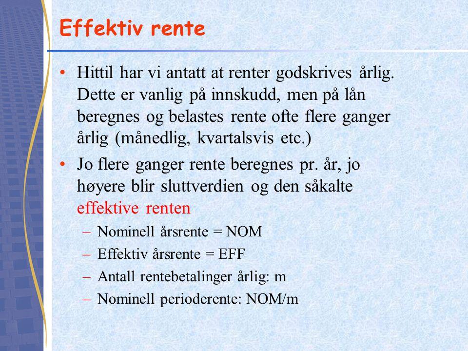 Effektiv rente