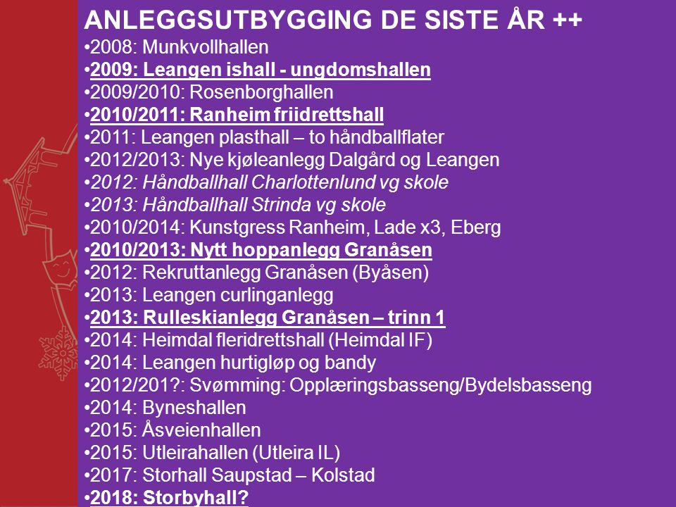 ANLEGGSUTBYGGING DE SISTE ÅR ++