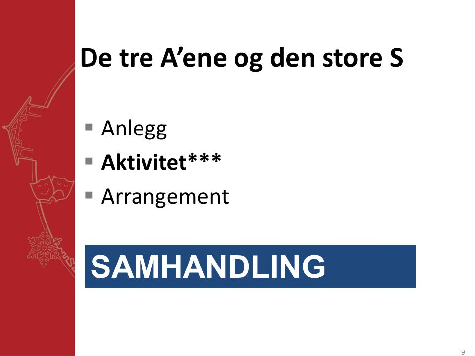 De tre A'ene og den store S