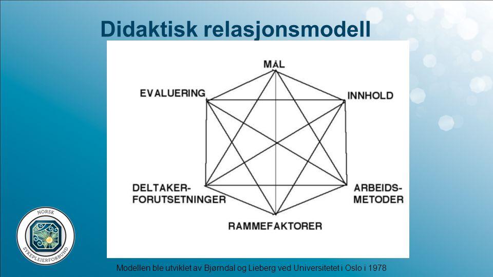 Didaktisk relasjonsmodell