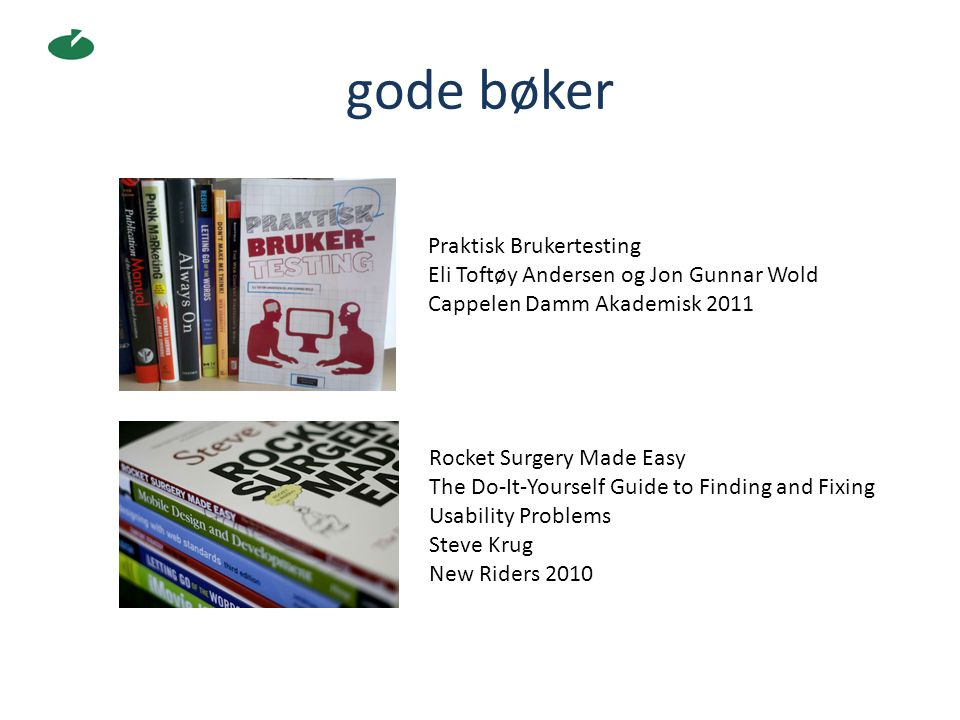 gode bøker Praktisk Brukertesting