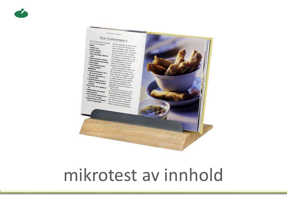 mikrotest av innhold
