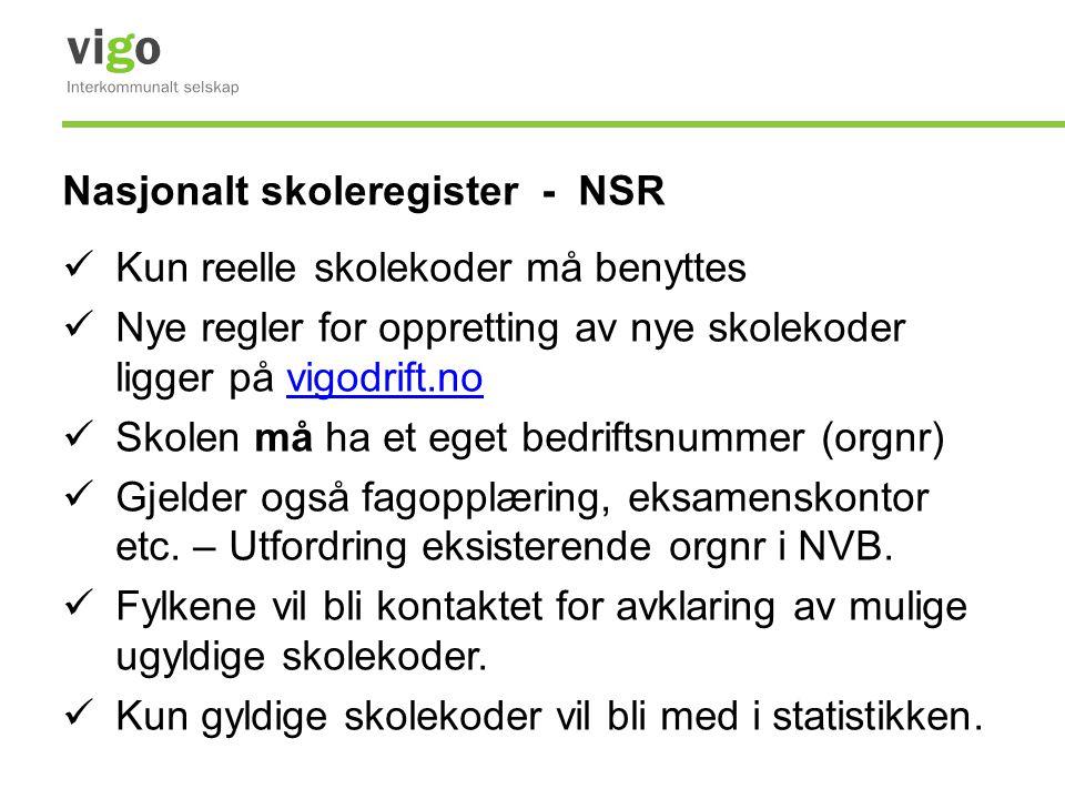 Nasjonalt skoleregister - NSR