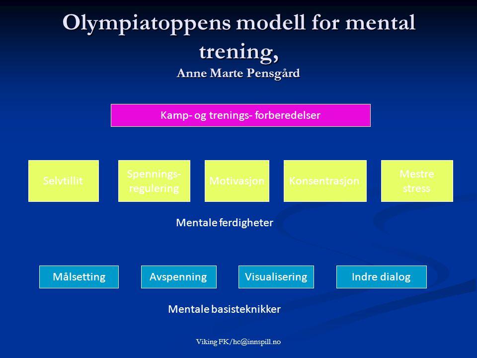 Olympiatoppens modell for mental trening, Anne Marte Pensgård