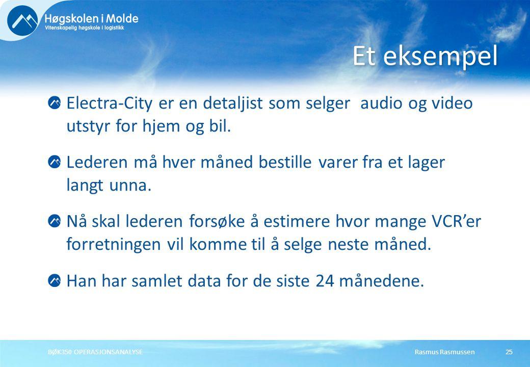 Et eksempel Electra-City er en detaljist som selger audio og video utstyr for hjem og bil.