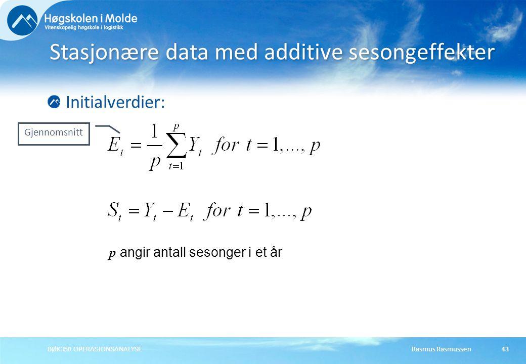 Stasjonære data med additive sesongeffekter