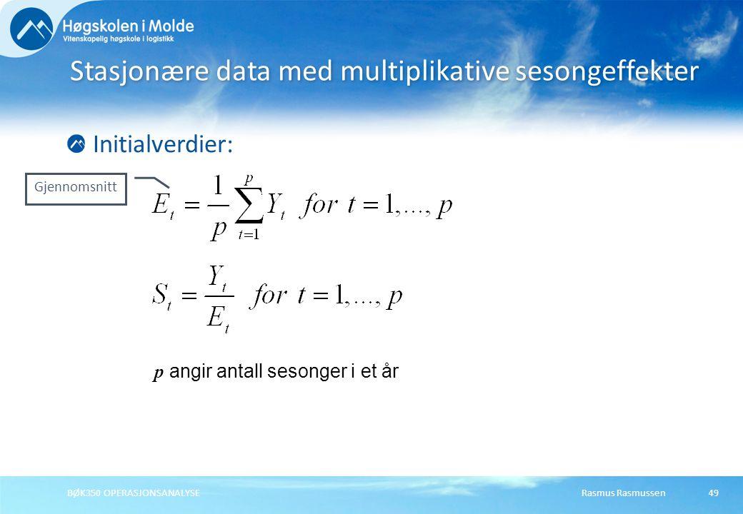 Stasjonære data med multiplikative sesongeffekter