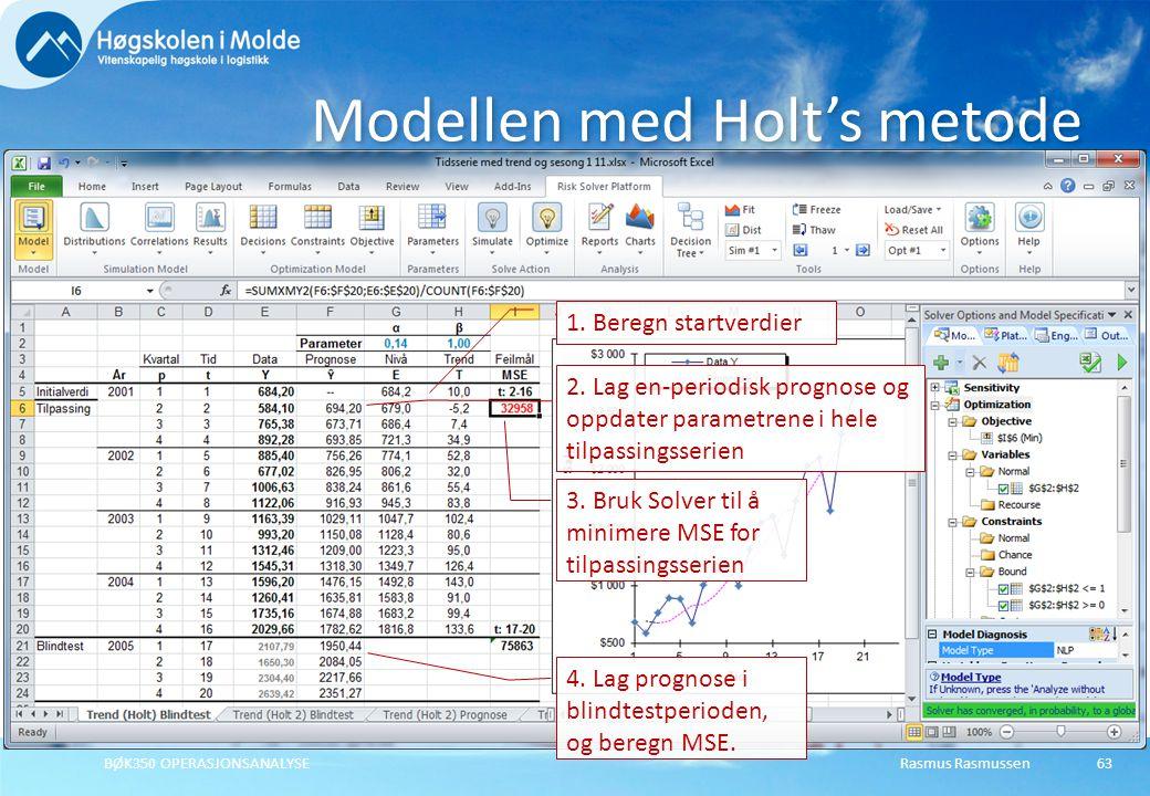 Modellen med Holt's metode