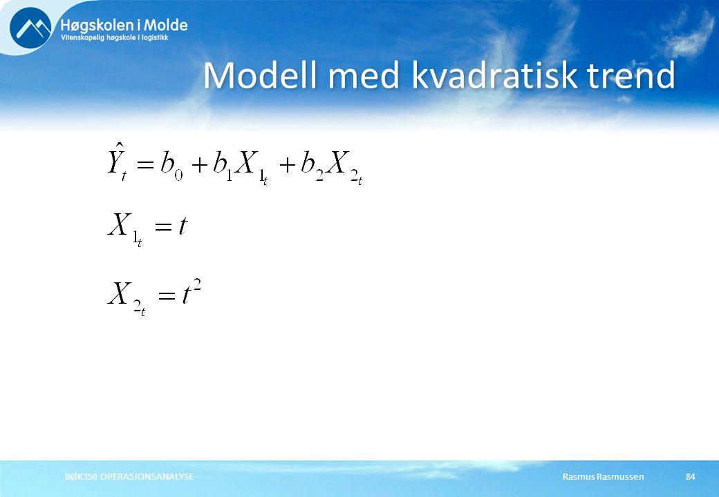 Modell med kvadratisk trend