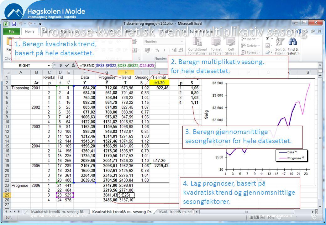 Prognose kvadratisk trend multiplikativ sesong