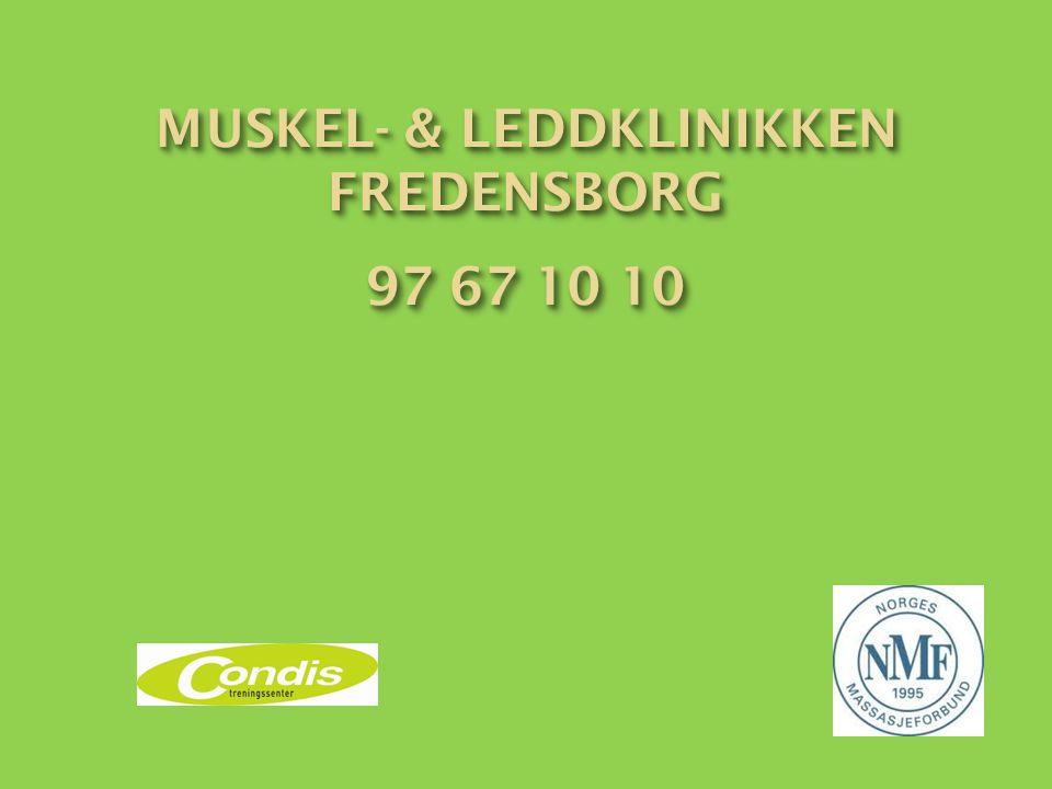 Muskel- & leddklinikken FREDENSBORG 97 67 10 10