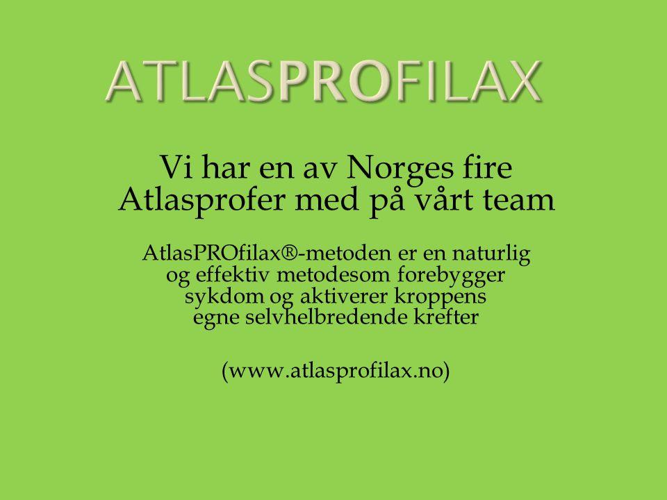 Vi har en av Norges fire Atlasprofer med på vårt team