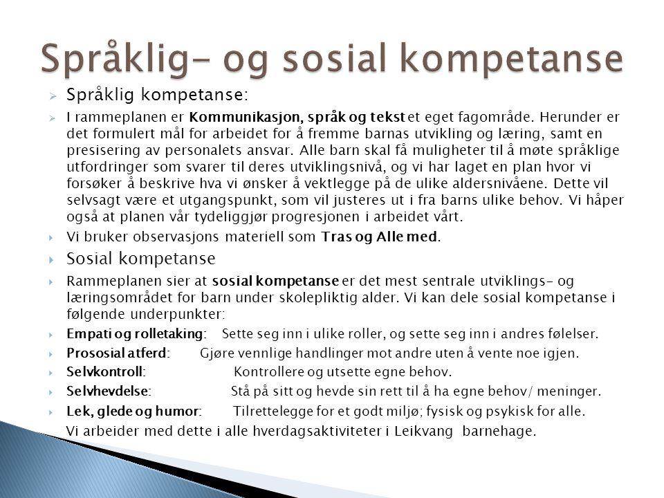 Språklig- og sosial kompetanse