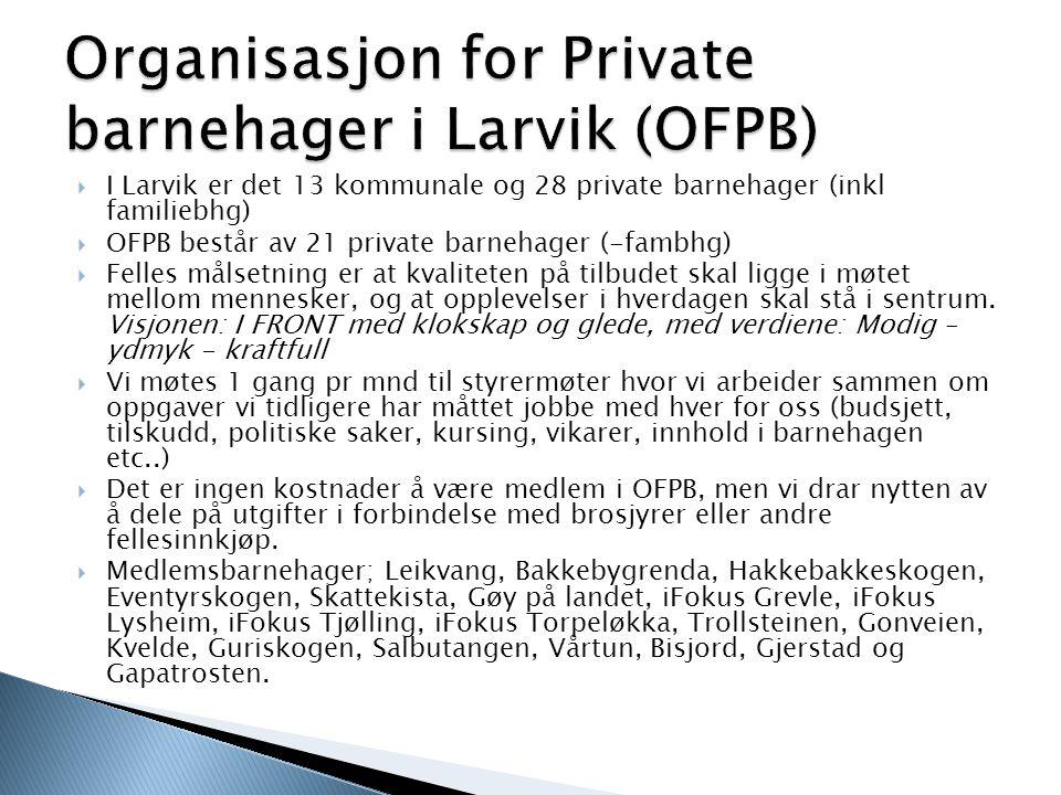 Organisasjon for Private barnehager i Larvik (OFPB)