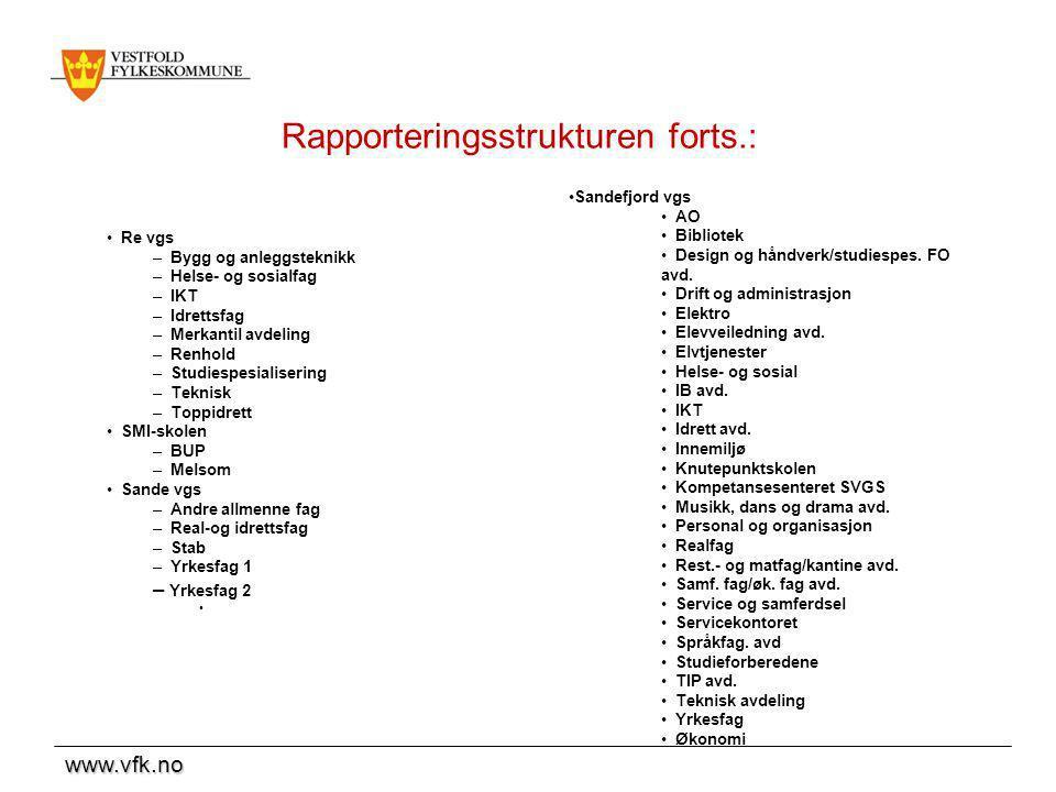 Rapporteringsstrukturen forts.: