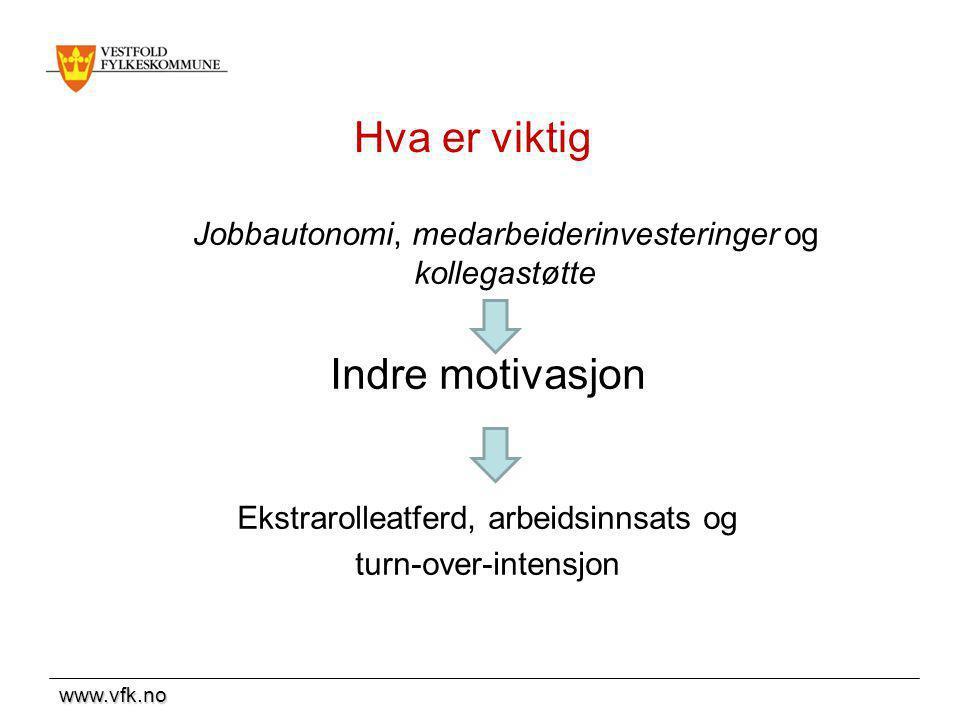 Hva er viktig Indre motivasjon