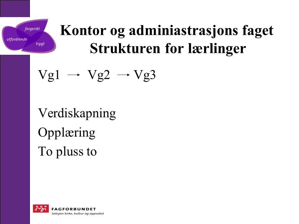 Kontor og adminiastrasjons faget Strukturen for lærlinger