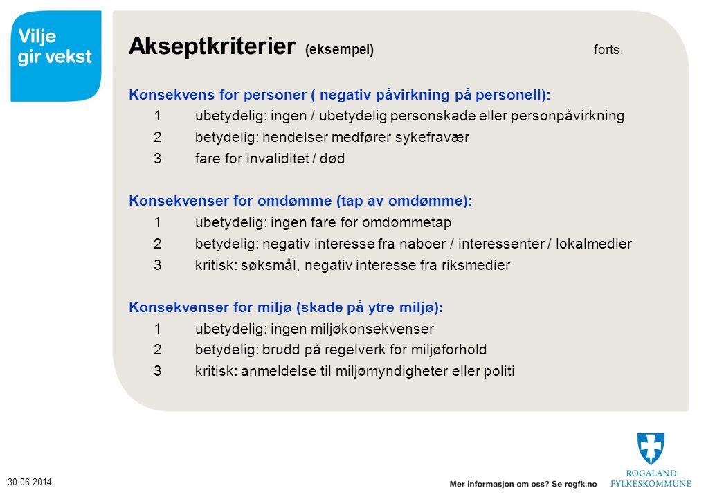 Akseptkriterier (eksempel) forts.
