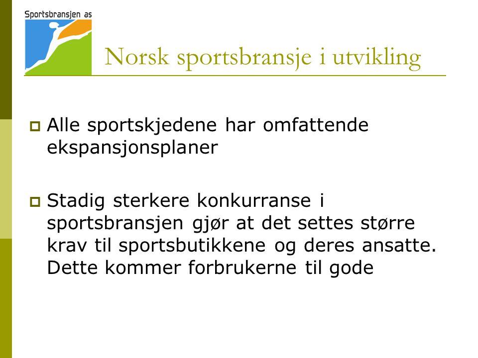 Norsk sportsbransje i utvikling