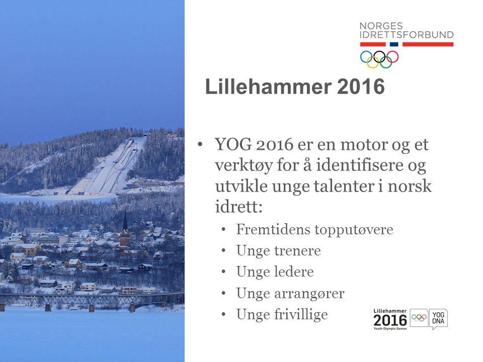 Lillehammer 2016 YOG 2016 er en motor og et verktøy for å identifisere og utvikle unge talenter i norsk idrett: