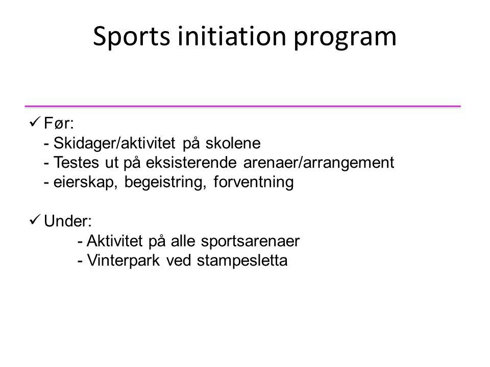 Sports initiation program