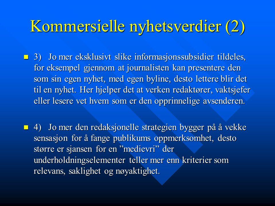 Kommersielle nyhetsverdier (2)
