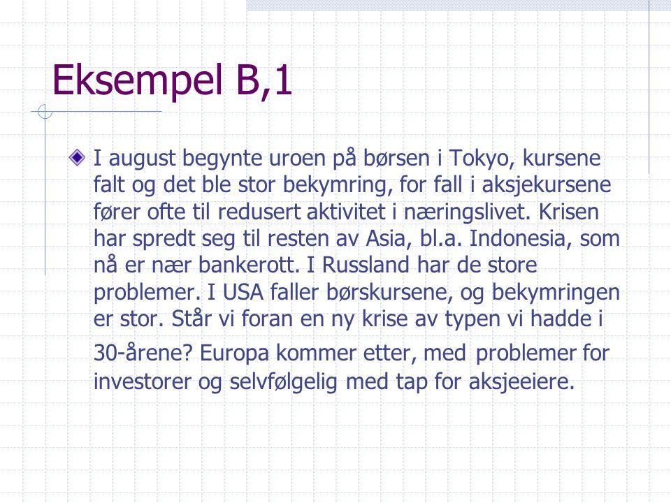 Eksempel B,1